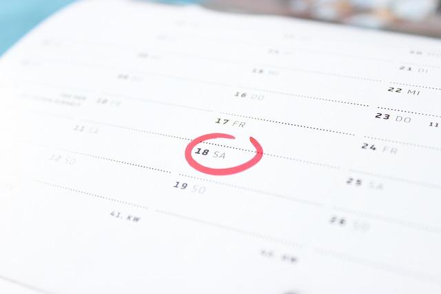 označení v kalendáři
